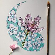 noel badges pugh - Google'da Ara Pen And Watercolor, Botanical Drawings, Sketchbook Inspiration, Mosaic Patterns, Diy Art, Art Lessons, Cool Art, Illustration Art, Martin Klimas