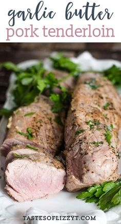 Wondering how to cook garlic butter pork tenderloin? We give hints for how to cook pork tenderloin in the oven and have it juicy and tender. Don't forget to brush it with garlic butter for an amazing flavor. Pork Loin Recipes Oven, Pork Tenderloin Oven, Cooking Pork Tenderloin, Beef Recipes, Pork Roast, Roast Brisket, Game Recipes, How To Cook Garlic, Diet