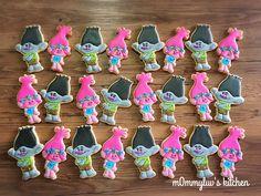 Trolls cookies Branch cookies Poppy cookies