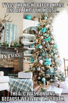 Christmas tree inspiration Customize your Christmas tree for affordable price . - Happy Christmas - Noel 2020 ideas-Happy New Year-Christmas Christmas 2017, Christmas Humor, All Things Christmas, Christmas Holidays, Merry Christmas, Turquoise Christmas, Southern Christmas, Christmas Trends 2018, Christmas Weather