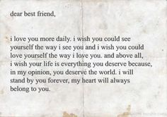 Honest Letters to friends or family make cherished gifts... don't wait to write and give one!