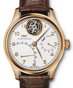 IWC Schaffhausen.  International comapny of high end watchs ranging in price from $1,000. to $10,000.  Famed to be the best in the world.  Company was founded in 1868 in Schaffhausen, SWITZERLAND.