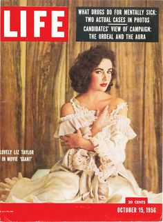 October 15, 1956: Lovely Liz Taylor in Movie 'Giant.'