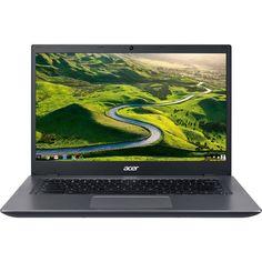 "Acer - 14 for Work 14"" Chromebook - Intel Celeron - 4GB Memory - 16GB eMMC Flash Memory - Black, Silver"