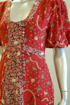 Bodice from Ossie Clark w/Celia Birtwell print dress