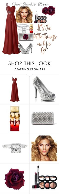 """""""One Shoulder Dress"""" by willfongdanielle ❤ liked on Polyvore featuring Christian Louboutin, Hidalgo, Charlotte Tilbury, Laura Geller and Harry Winston"""