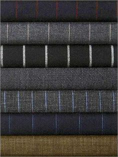 Suiting material....upholstered headboards, accent cushions, occasional chairs...so many places to use great fabrics like these!
