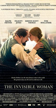 At the height of his career, Charles Dickens meets a younger woman who becomes his secret lover until his death. My rating 7/10  Trailer https://www.youtube.com/watch?v=WDMHb3GetIc