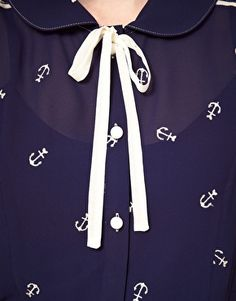 Loving this anchor blouse from #asos #nautical