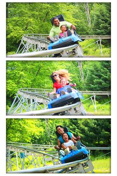 The Mountain Coaster travels fast and covers 4500' of track through the Pocono Mountains! #MyCamelback