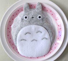 Totoro My Neighbour Big Cute Kawaii Grey iPhone Camera Felt Case button closure Fairytale. $25.00, via Etsy.