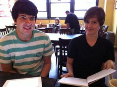 MEET THE INTERNS!  Peter (left) and Holly (right), IFD's 2012 summer interns.