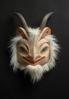 Mountain Goat mask by Scott Kadach áak ú Jensen