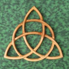 Triquetra Celtic Goddess-Wiccan Protection-Christian Trinity-Charmed  MEANING: This symbol has had many incarnations of meaning over the years.   Originally it is believed, to the early Celtics, the three arcs represent the three aspects of the ancient Celtic Goddess; Maiden, Mother, Crone.   As the Christian Church moved into Celtic areas, this symbol was adapted to the Christian Trinity of Father, Son and Holy Ghost.   The symbol of protection to modern Wiccans. $68.00