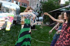 Love the summery fun! Stella McCartney Celebrates Resort Collection Photo by Steve Eichner