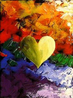 WORLD FAMOUS COLORFUL HEART PAINTING