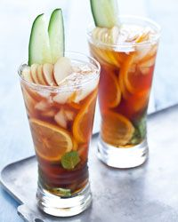 Pimm's Cup   Contributed by Quick From Scratch Herbs & Spices  The drink to order at polo matches, this fruity concoction gets its name and its alcohol content from Pimm's No. 1, a British spirit. You can find it at any well-stocked liquor store.