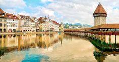 Lucerne in the morning... . #throwback #switzerland #luzern #lake #bridge #reflection #horizons