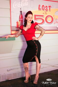 Pinup rockabilly red top by holachicaclothing on Etsy, $55.00