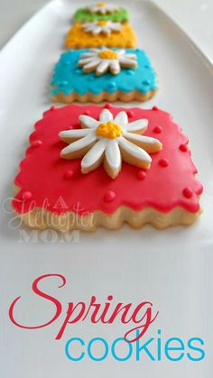 Gorgeous homemade Spring Cookies #Recipe #Cookies #Tips