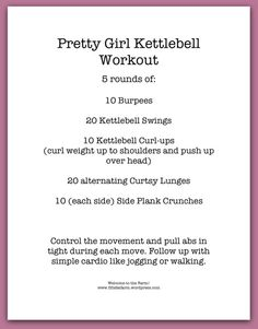 Pretty Girl Kettlebell Workout