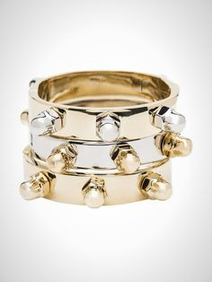 Digging these bolt bangles.