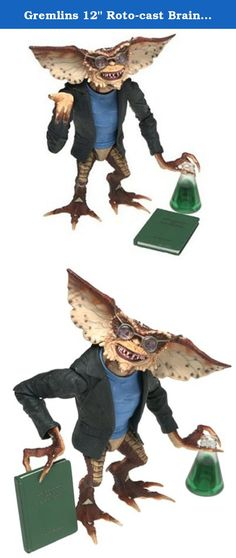 "Gremlins 12"" Roto-cast Brain Action Figure. Approximately 12 inch action figure with accessories."