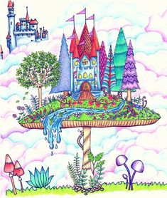Mushroom castle enchanted forest