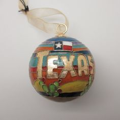 Colorful Gift Ornament - Just likeTexas Sunset Christmas Cloisonne Ornament comes in Silk Gift Box #KittyKeller