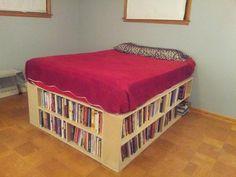 The bookshelf bed my husband made