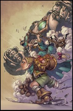 Battle Chasers Poster - Lines by JoeMad by Markovah.deviantart.com on @DeviantArt