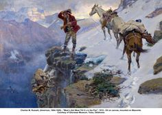 Western Wednesday: Charles M. Russell - Daily Blog Montana & Western Themes - Charles Russell Montana western art - please go to CLIMBINGSKY.COM