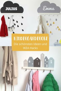 A children's wardrobe can be easily done by yourself. And looks as well . Nursery Armoire, Armoire Dresser, Nursery Storage, Ikea Wardrobe Hack, Wardrobe Closet, Closet Drawers, Closet Storage, Childrens Wardrobes, Baby Zimmer