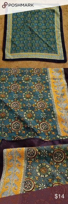 Vintage scarf 30x30 bandana turban bohemian?? Perfect condition, I've worn as turban, it's gorgeous! Anthropologie Accessories Hair Accessories