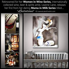 UPDATE: Oh dear. Well I just got back from a fun family outing and based on a few direct questions asking where the link was, I hope most did read through my entire caption this morning and knew this was fake! Awkward. Did not expect even an inquiry about my breastmilk art. Hmmm... 🤔😂!: ▶️ New release! From my Women in Wine to Mamas in Milk. You've also seen my other beverage works pouring from bottle to wine glass, barrels to beer stein, decanter to whiskey tumbler, and even shaker to…