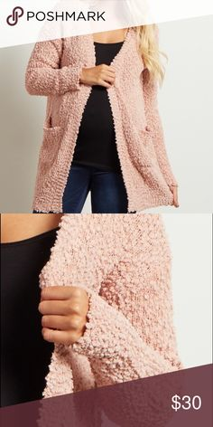 PinkBlush Maternity Pink Knit Cardigan So Cozy! Can be worn for maternity or not Pinkblush Sweaters Cardigans