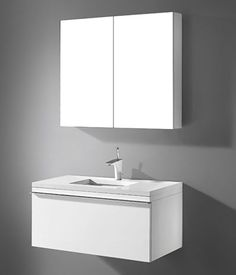 Venasca 36 Vanity, Wall Hung Vanity, Double Vanity, Steel Kitchen Sink, Stainless Steel Kitchen, Glass Vessel, Guest Bath, Ceramic Bowls, Bathroom Furniture
