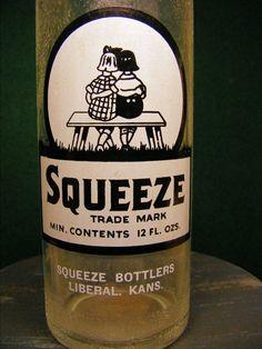 Vintage Glass Bottle Squeeze Soda Pop 2 by OakleafHollowVintage, $12.00