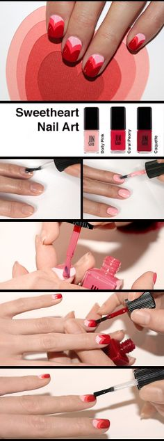 Sweetheart mani for Valentine's Day how-to by JINsoon. #SephoraNailspotting