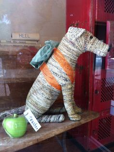 Dog the student... from back to school window at The Shop