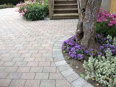 #ASAK Miljøstein #ModenaFliser Hagen, Backyard Landscaping, Platter, Porch, Sidewalk, Gardening, Patio, Landscape, Outdoor Decor