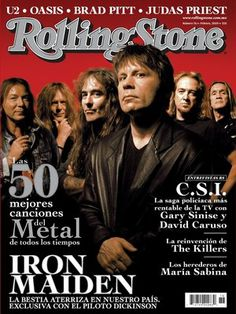 Iron Maiden - Rolling Stone Cover. #ironmaiden #rollingstonemag #magcovers http://www.pinterest.com/TheHitman14/musicover-shots/