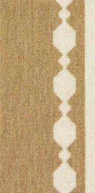 """White on Natural """"FNR"""" carpet border"""