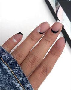 Frensh Nails, Cute Gel Nails, Chic Nails, Stylish Nails, Swag Nails, Short Gel Nails, Manicure For Short Nails, Nail Design For Short Nails, Cute Short Nails