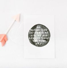 No Matter How Far Apart We Are, We Are Always Under the Same Sky - Valentines Printable by the Sour Cactus on Etsy