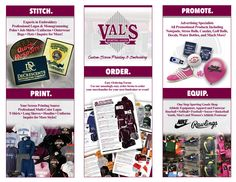 Val's Sporting Goods in-store brochure, rear facing pages
