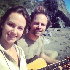 Love and music at shell beach.