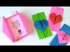 Difficulty: 🌕 🌑 🌑 🌑 🌑 (Easy) In this video I show you how to fold this traditional Origami Tato (envelope). If you want to go all the way traditional, you wo. Origami Diy, Origami And Quilling, Origami Envelope, Diy Envelope, Fancy Envelopes, Envelope Lettering, Pin Badges, Diy And Crafts, Cross Stitch