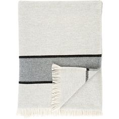 Barneys New York Grace Throw (€875) ❤ liked on Polyvore featuring home, bed & bath, bedding, blankets, grey, grey blanket, herringbone throw blanket, woven blankets, grey throw and gray bedding