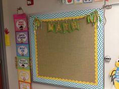 I like the burlap look a lot. Mrs. Richardson's Class: Classroom Tour Update!